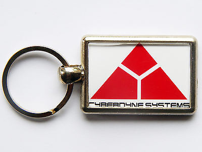 CYBERDYNE SYSTEMS Terminator Movie Quality Chrome Keyring Both Sides
