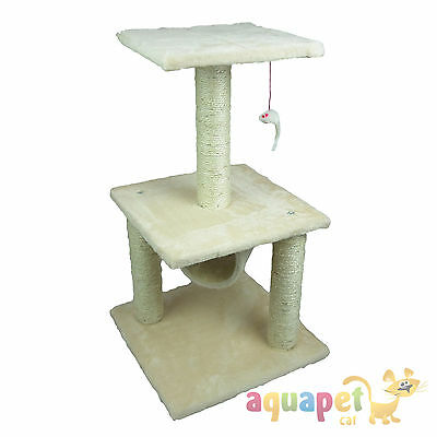 "3 Tier Cat Scratcher Tree with Sisal Poles and Tunnel 71cm (28"")"
