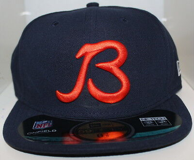 NEW ERA 5950 CHICAGO BEARS NFL On Field Cap Fitted Navy Hat 59FIFTY ... 4a8871273