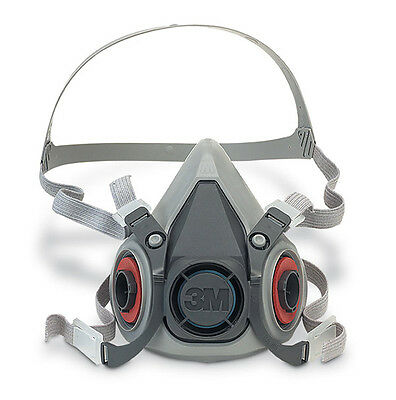 3M 6000 Series Half Mask Reusable Respirator Dust & Gas Mask - 6300 Large