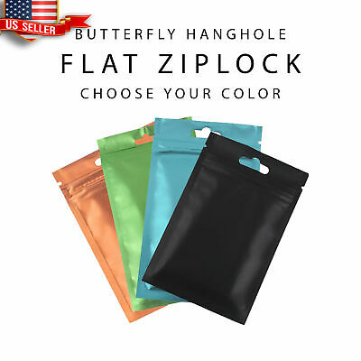 100 Flat Clear/Silver/Colored Mylar Zip Lock Bags in Variety of Sizes/Colors