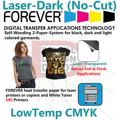 Forever Heat Transfer Paper  For Laser Printer and Dark and Light T Shirts