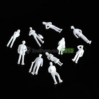 100PCS Figures 1:100 Scaled Models Train Building People Toys for Layout  BEST