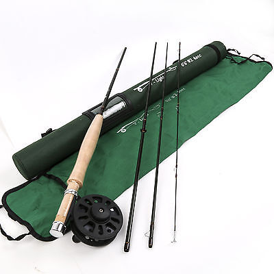 V-Light Fast Action Fly Fishing Rod 6.6FT 2Weight 4Section And Reel Combo