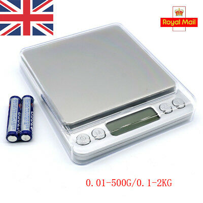 0.01-500G/0.1-2KG Electronic Digital Gold Jewellery Weighing Kitchen Scales +AAA