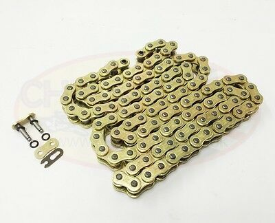 Heavy Duty Motorcycle O-Ring Drive Chain 520-112 Gold Kawasaki Z750 S 05-06