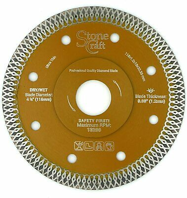 Ultra Thin 115mm x 22.23 Diamond Grinder Blade Flanged 1.2mm thick for all tiles