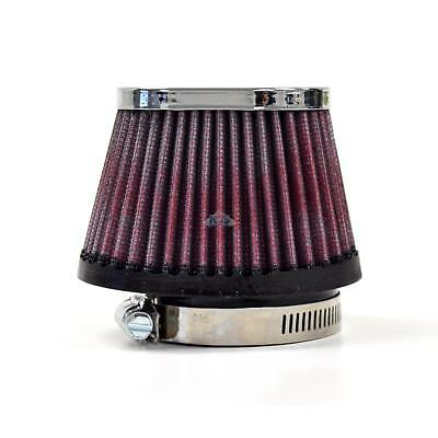 S&B Narrow Tapered Oval Chrome Red Oiled USA 55mm Air Filter