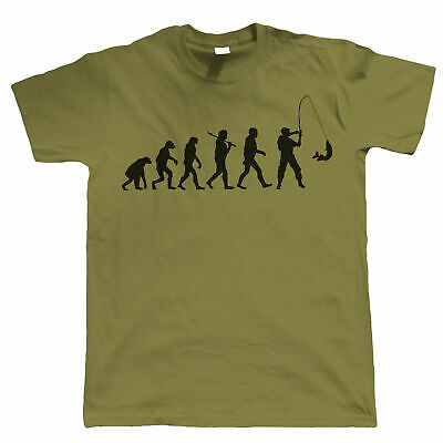 Evolution of Fishing, Funny Mens T Shirt, Gift For Dad Him