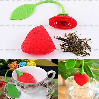 Silicone Creative Strawberry Shape Tea Leaf Strainer Herbal Spice Infuser Filter