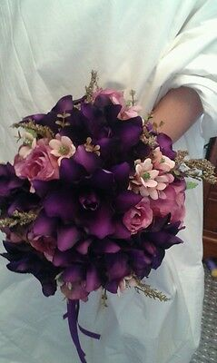 Cadbury's Purple Bridal Bouquet Wedding
