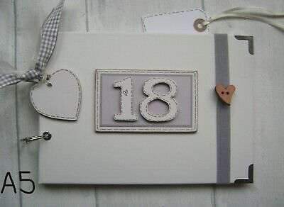 PERSONALISED 18th birthday .A5  SIZE. . PHOTO ALBUM/SCRAPBOOK/MEMORY BOOK.