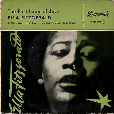 "ELLA FITZGERALD the first lady of jazz 7""EP 1958 Brunswick germany"