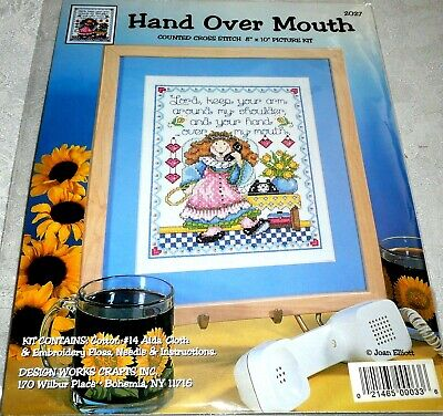 Design Works Counted Cross Stitch Kit HAND OVER MOUTH Prayer 2027