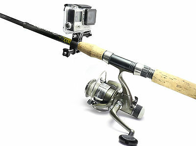 Fishing Rod Mount f. GoPro HERO 3 - 4 Session Angel Fischen Sportsman Halterung