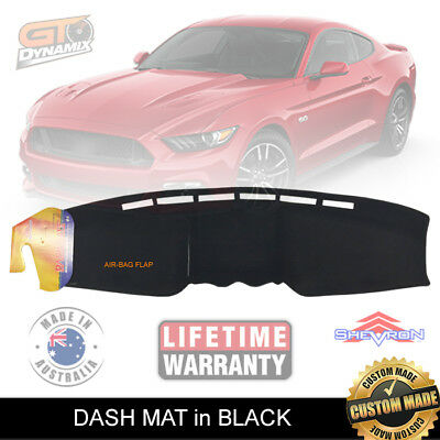 Dash mat to Suit all Ford Mustang FM Coupe GT OCT/2015 to 2018 in Black DM1423