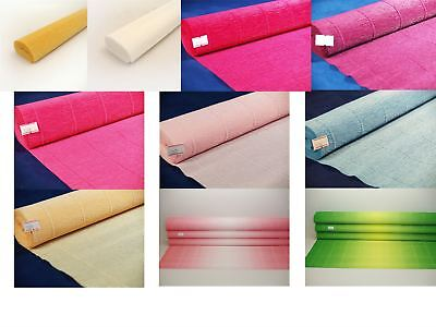 Premium Italian Floristry and Crafts Crepe Paper Roll  50cm x 2.5m All Colours