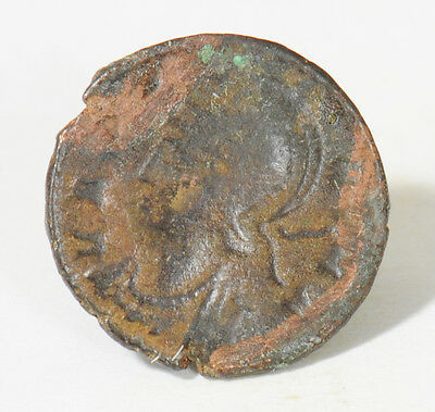 Ancient Roman Bronze Constantine I The Great Coin (307 - 337 A.d.)