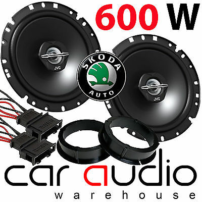 "Skoda Fabia 99-06 MK1 17cm 6.5"" JVC 600 Watts Front Door Car Speakers & Fittings"
