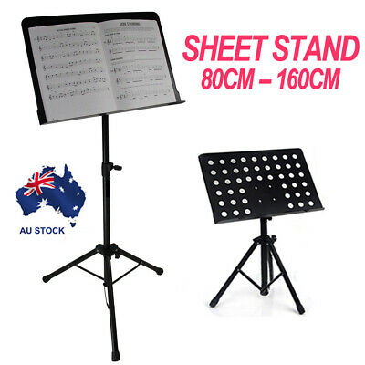 Adjustable Music Stage Stand Metal Heavy Duty Music Sheet Conductor Folding  AU