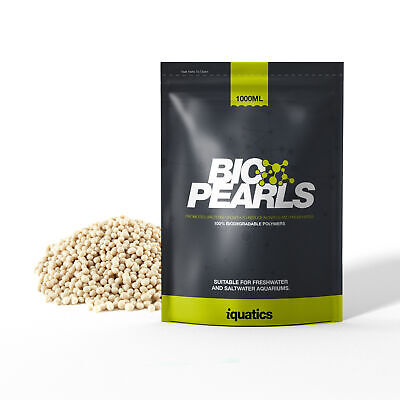 iQuatics Bio Pearls - 1000ml - Reduces Nitrates & Phosphates *FREE UK DELIVERY*