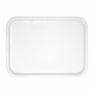 Olympia Kristallon Plastic Fast Food Service Tray Large White Plastic Catering