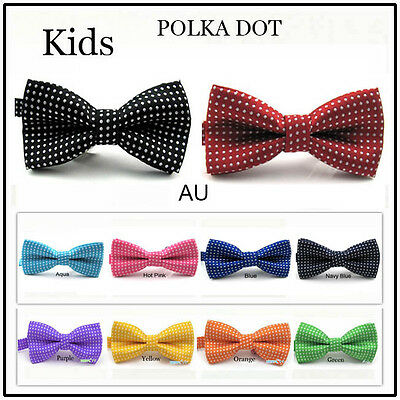 BOYS BOW TIE POLKA DOT Necktie BABY CHILDREN KIDS BOW TIES TODDLER WEDDING