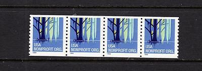 Scott 3207 Strip 4 Plate # MNH - 1998 Wetlands Coil