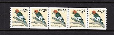 Scott 3045 Plate Strip MNH - 1999 Woodpecker Coil