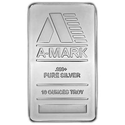 10 Troy oz A-Mark .999 Fine Silver Bar Sealed