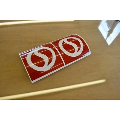 STERLING High Reflective Caravan Logo Stickers Decals Graphics - PAIR