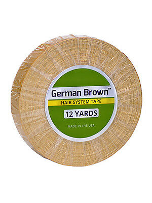 "Walker Tape German Brown Hair Tape Adhesive 3/4"" x 12yds - Wig, Hairpiece"
