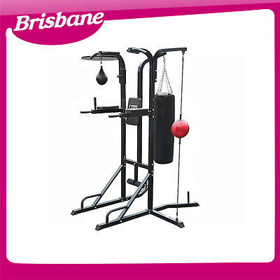 *** QLD PICKUP*** Power Boxing Station Stand Gym Speed Ball Punching Bag Station