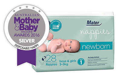 Mater Nappies Newborn 3-5kg: features umbilical cord protection