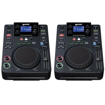 Gemini CDJ-300 All-in-One Professional Media Player Home Club DJ CD Deck (PAIR)