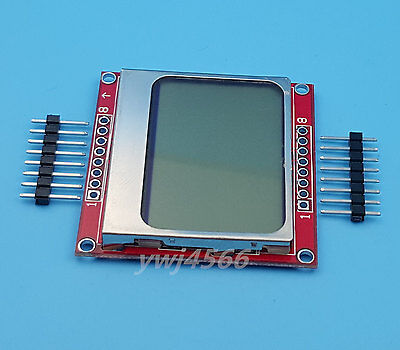 1Pcs Nokia 5110 LCD Display Module White Backlight with Adapter PCB 84*48