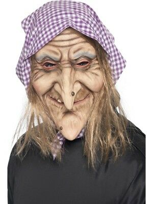 Old Witch Mask Adult Mens Smiffys Fancy Dress Masks