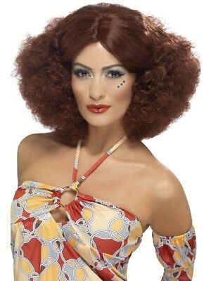 Auburn 1970's Disco Afro Wig Adult Womens Smiffys Fancy Dress Costume