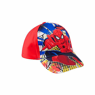 New Boys Kids Marvel Spider-Man Thwip Baseball Cap Blue Or Red  Age 3-10