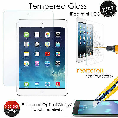 New Tempered Glass Film LCD Screen Protector Guard For Apple iPad Mini 1 2 3