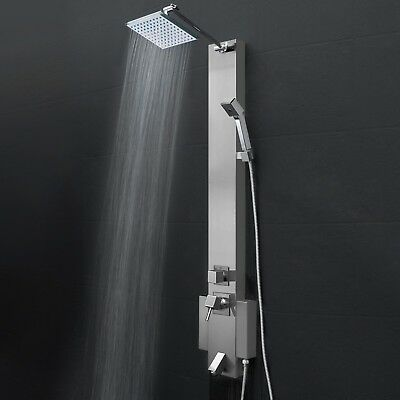 Shower Tower Head Panel Function Wand Handheld Stainless Steel Rainfall Style