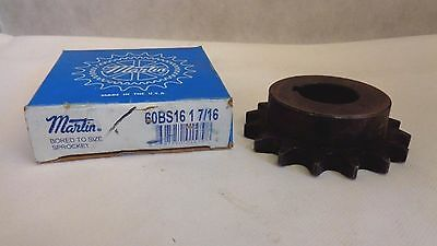 New In Box Martin 60Bs16 1-7/16 Chain Sprocket