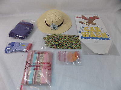 American Girl JULIE SET 1 MISC 7 PC Birthday Hat Casual Lunch Patchwork NEW*