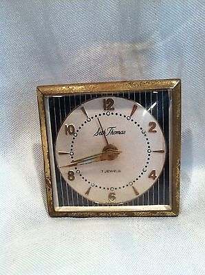 Vintage Seth Thomas 7 Jewels Travel Alarm Clock Made In Germany
