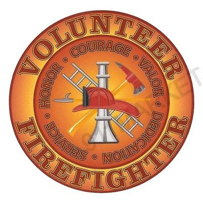 Volunteer Firefighter Decal Car Sticker Truck Outdoor Durable Department VFF 4""