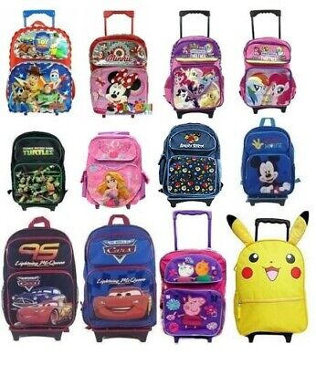 "16"" Large School Rolling Backpack Back Pack Backpacks for Kids Girls Boys"