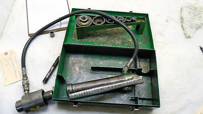 Greenlee 7646 Ram And Hand Pump Hydraulic Driver Kit Used