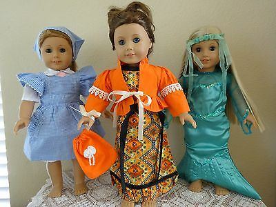 """NEW-DOLL CLOTHES -Doll Costume Sets [3] -Lot #146- fit 18"""" Doll such as AG Dolls"""