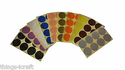 50mm 2 inch Coloured Dot Stickers Round Sticky Adhesive Spot Circles Paper Label