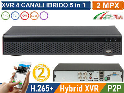 XVR DVR 6in1 AHD CVI TVI CVBS IP 4 CANALI UTC FULL HD 1080P P2P CLOUD HDMI WIFI